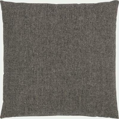 Coussin en polyester gris 45x45cm-CORBIN