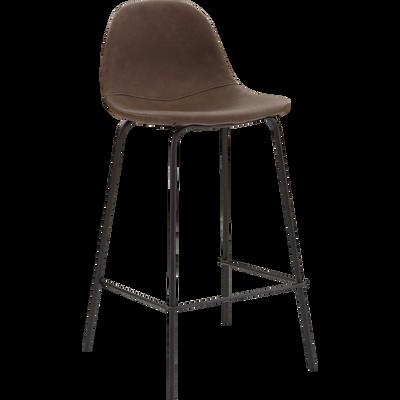 Chaise de bar rétro marron - H66cm-CHARLOTTE