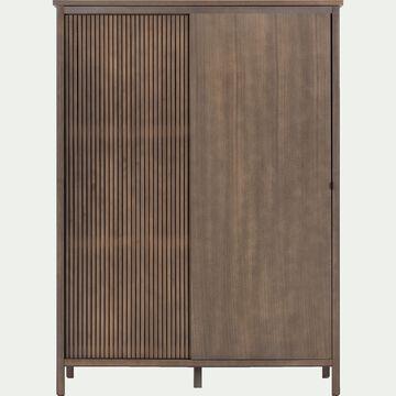 Armoire penderie 2 portes coulissantes en plaqué pin-CRUZ