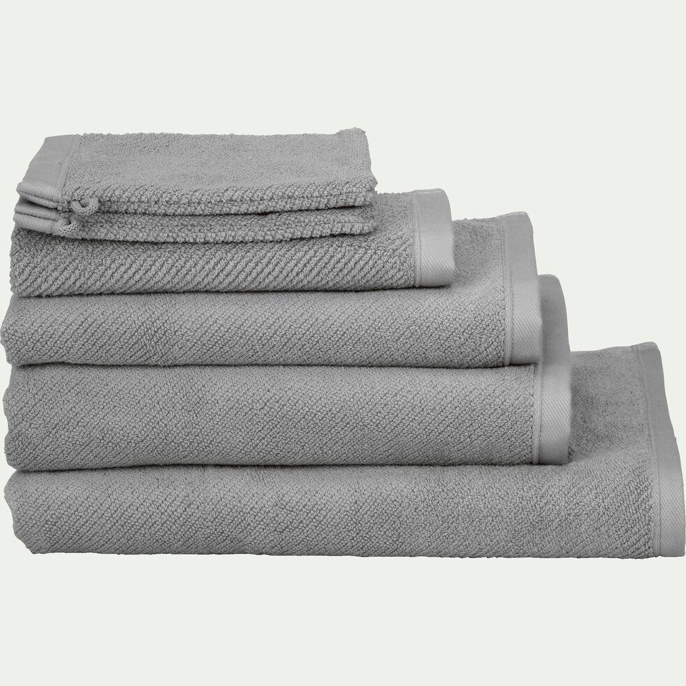 Linge de toilette bouclette en coton bio- gris restanque-COLINE