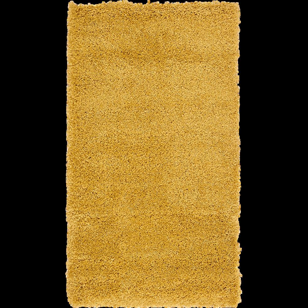Descente de lit à poils longs jaune 60x110cm-KRIS