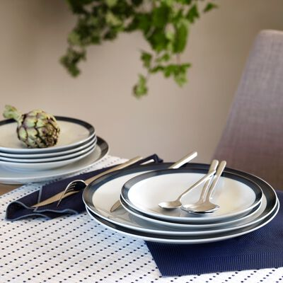 Set de table en PVC bleu myrte 36x48cm-VIGNE