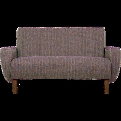 Canapé 2 places fixe rétro en tissu multicolore-BEAN