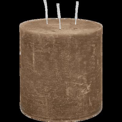 Bougie lanterne brun albe D15xH15cm-BEJAIA