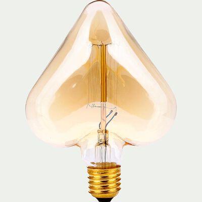 Ampoule décorative incandescente cœur H16cm culot E27-DECOCOEUR