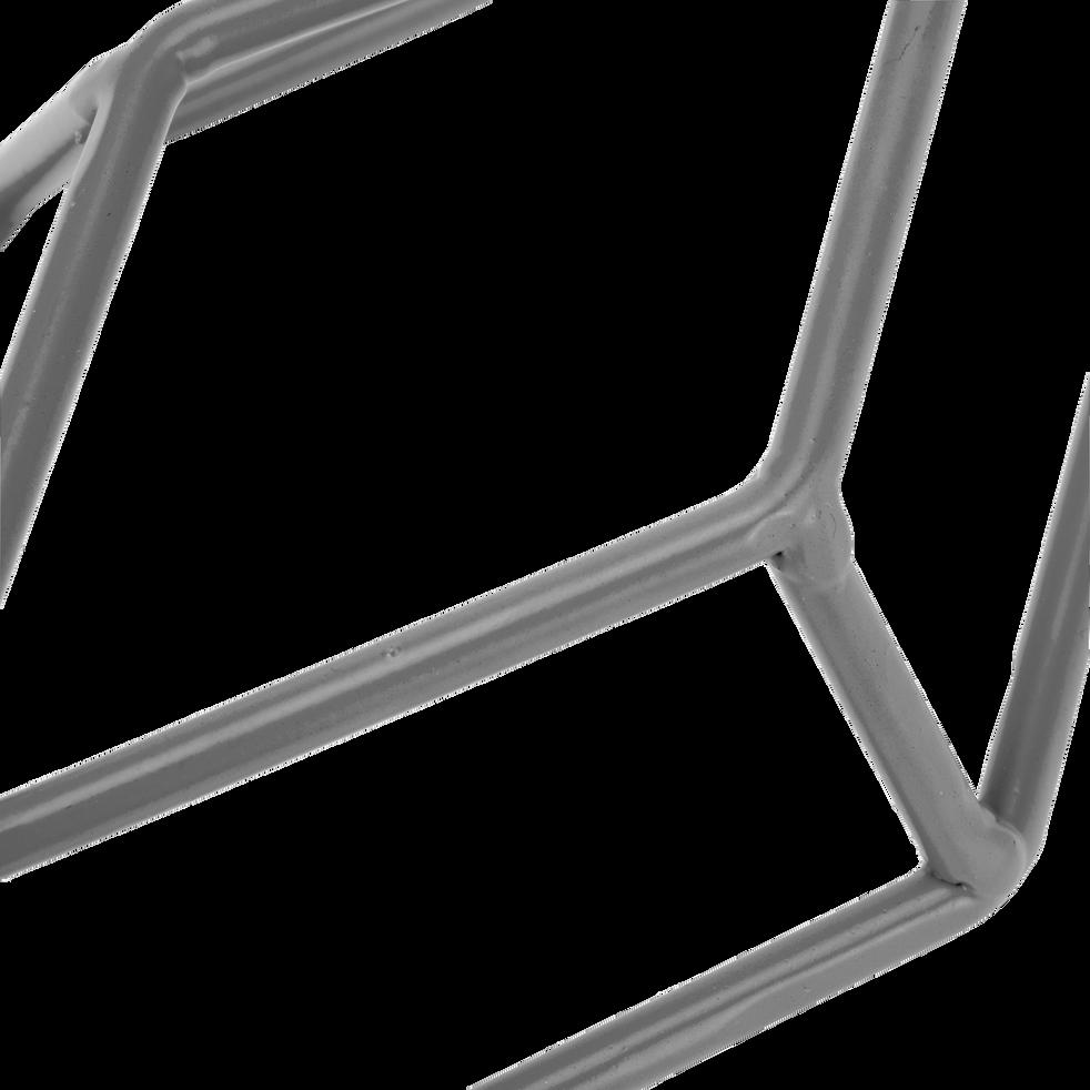 Patère en métal gris 1 emplacement l13xl4xh30cm-Pacha