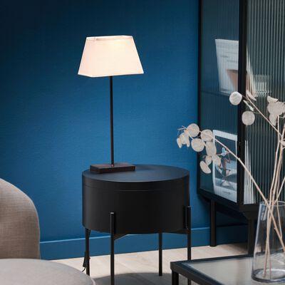 Lampe métal avec abat-jour taupe clair H47cm-Svelta