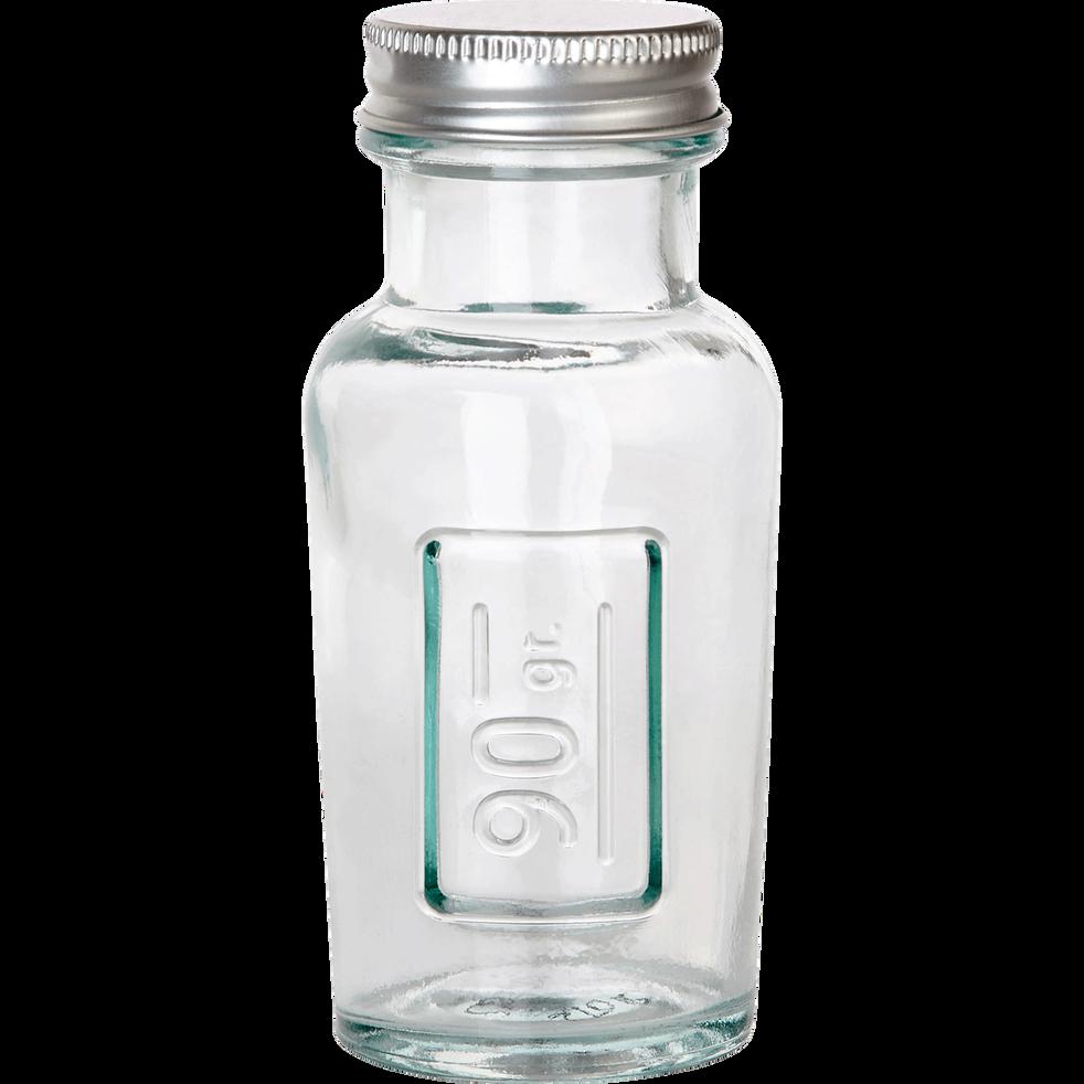 Bocal en verre recyclé avec bouchon 90G-STORAGE