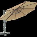 Parasol déporté D3,5m taupe-IMPERIA