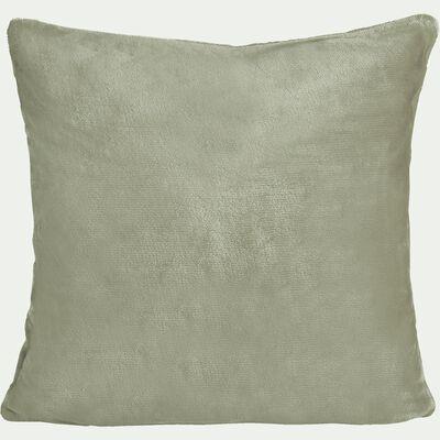Housse de coussin effet doux - vert olivier 65x65cm-ROBIN