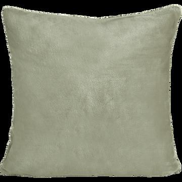 Housse de coussin effet doux vert olivier 65x65cm-ROBIN