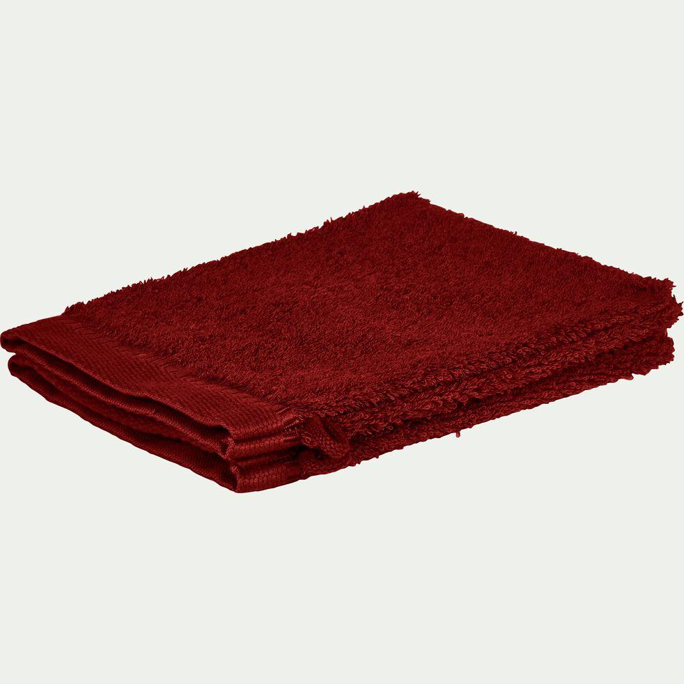 Lot de 2 gants de toilette bouclette en coton égyptien - rouge sumac-ARROS