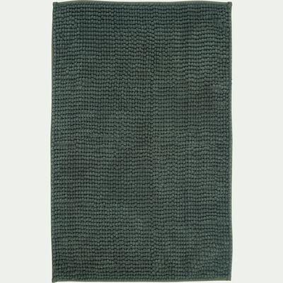 Tapis de bain chenille en polyester - vert cèdre 50x80cm-PICUS