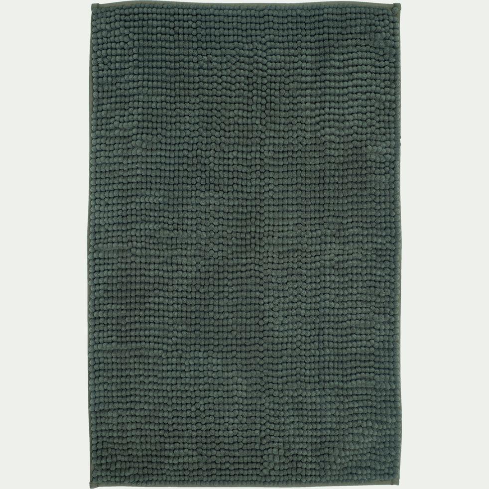 Tapis de bain polyester 50x80cm vert cèdre-PICUS