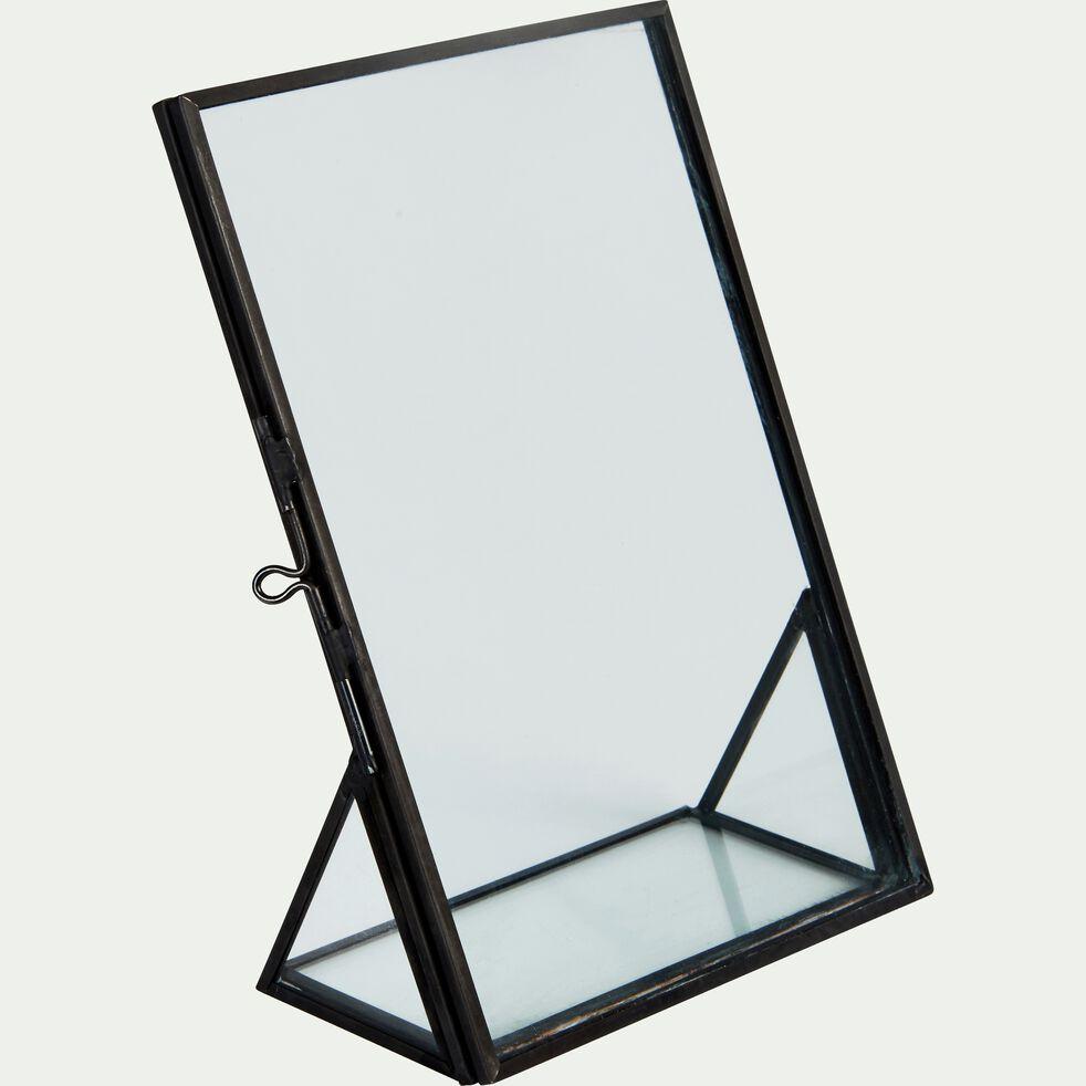 Cadre photo en métal noir - 10x15 cm-ASTRO