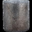 Photophore en verre gris D10xH11cm-PICHOTO