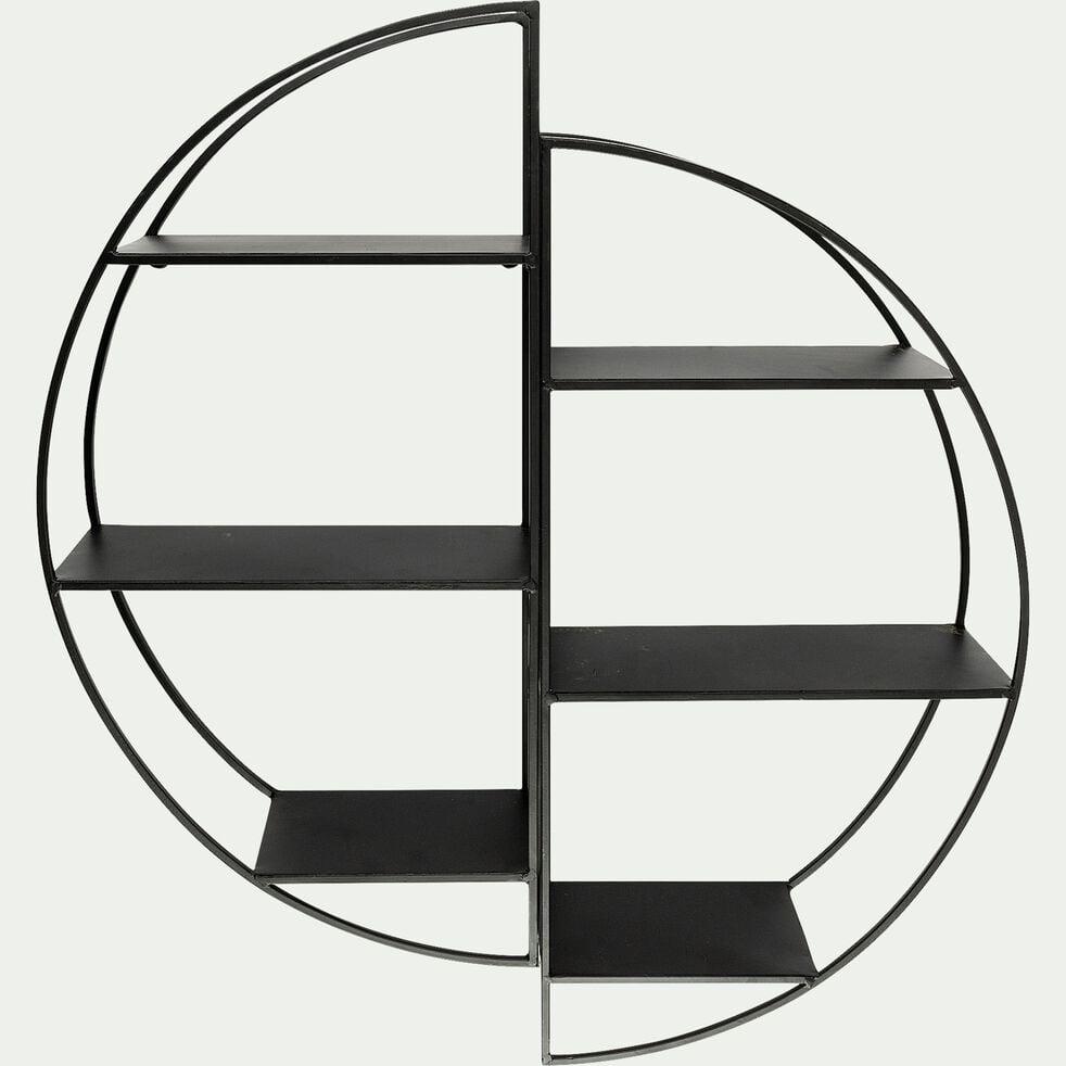 Étagère déco en métal -  L69,5xl25xH18cm noir-SOMAS