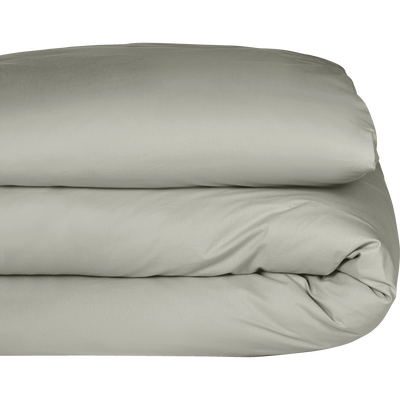 Housse de couette en coton Vert olivier 260x240cm-CALANQUES