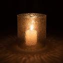 Photophore en verre marron D10xH11 cm-PICHOTO