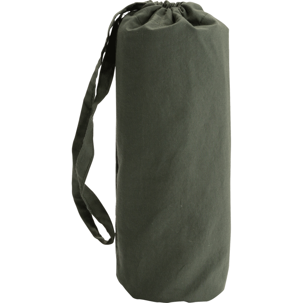 Drap housse en percale de coton lavé 60x120cm vert cèdre-PALOMA