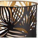 Photophore en métal ajouré - noir et doré D16,5xH22cm-NOUA