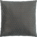 Coussin en coton imprimé à motifs bleu 40x40cm-CUBE