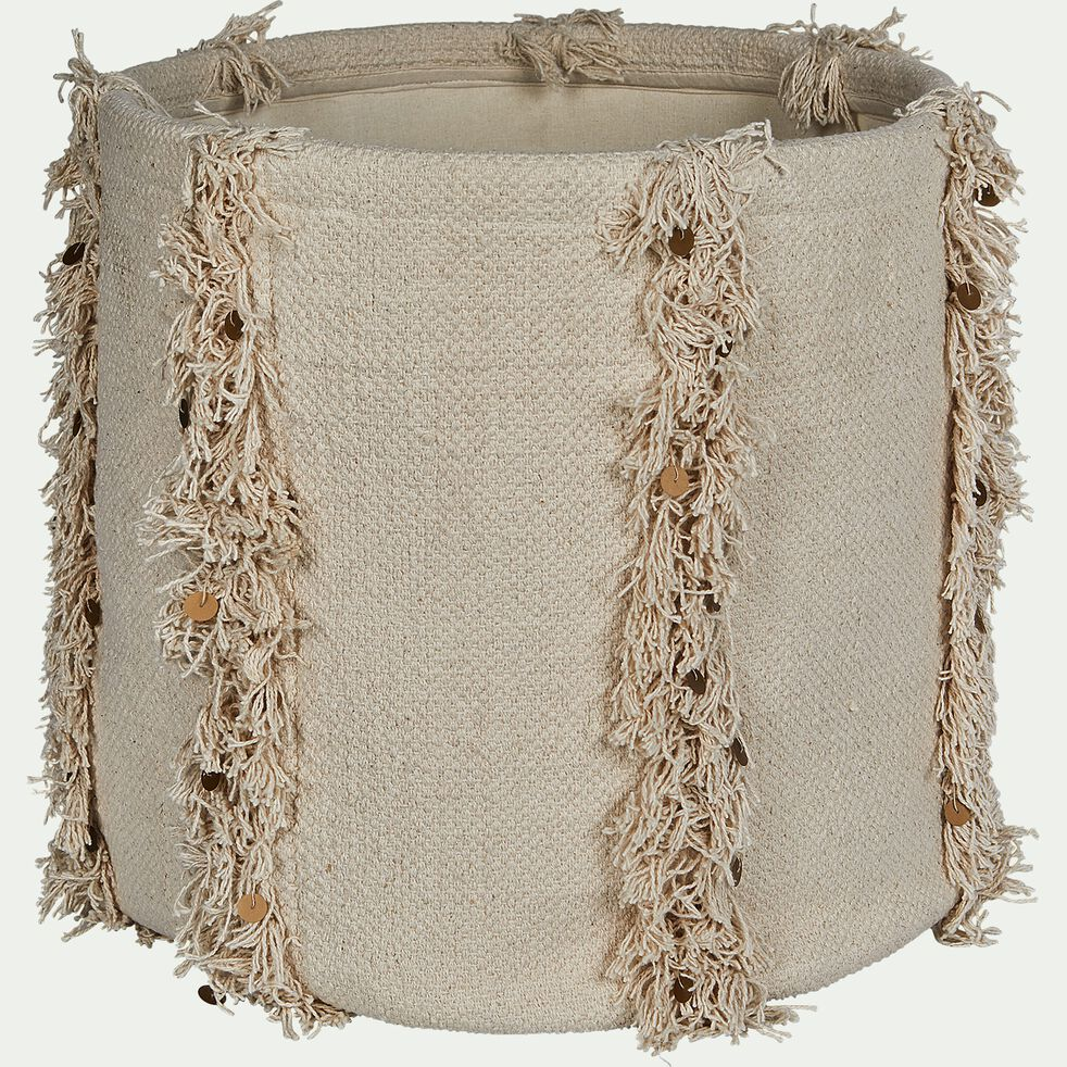 Panier en coton - beige H40xD40cm-MARA