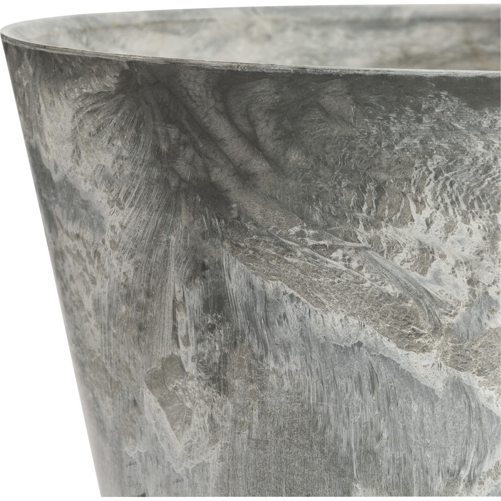 Pot à réserve d'eau en composite gris D27xH24cm-Artstone