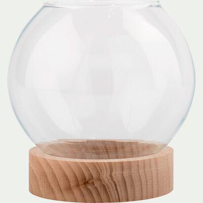 Boule en verre terrarium H17cm-MANHATTAN