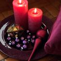 24 mini boules de Noël en verre violet D2,5cm-Nive