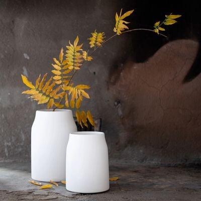 Vase simple en céramique - blanc ventoux D12xH16cm-LOZA