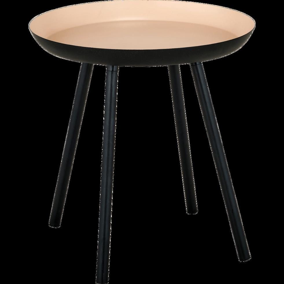 bout de canap en acier sable ros soufio alinea. Black Bedroom Furniture Sets. Home Design Ideas