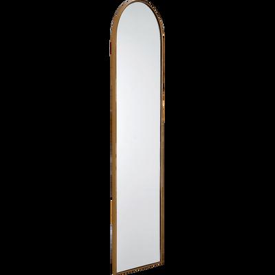 Miroir or en métal et fibres de bois 99x28,5cm-Basile