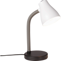Lampe de bureau orientable blanche et noir H35cm-Kiddy
