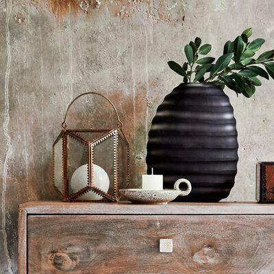 Vase en verre noir - H24cm-ANTE