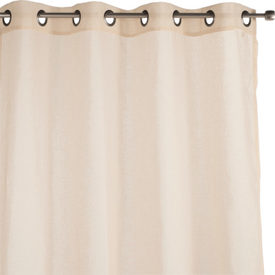 Voilage à oeillets beige roucas 135x300cm-DUNE