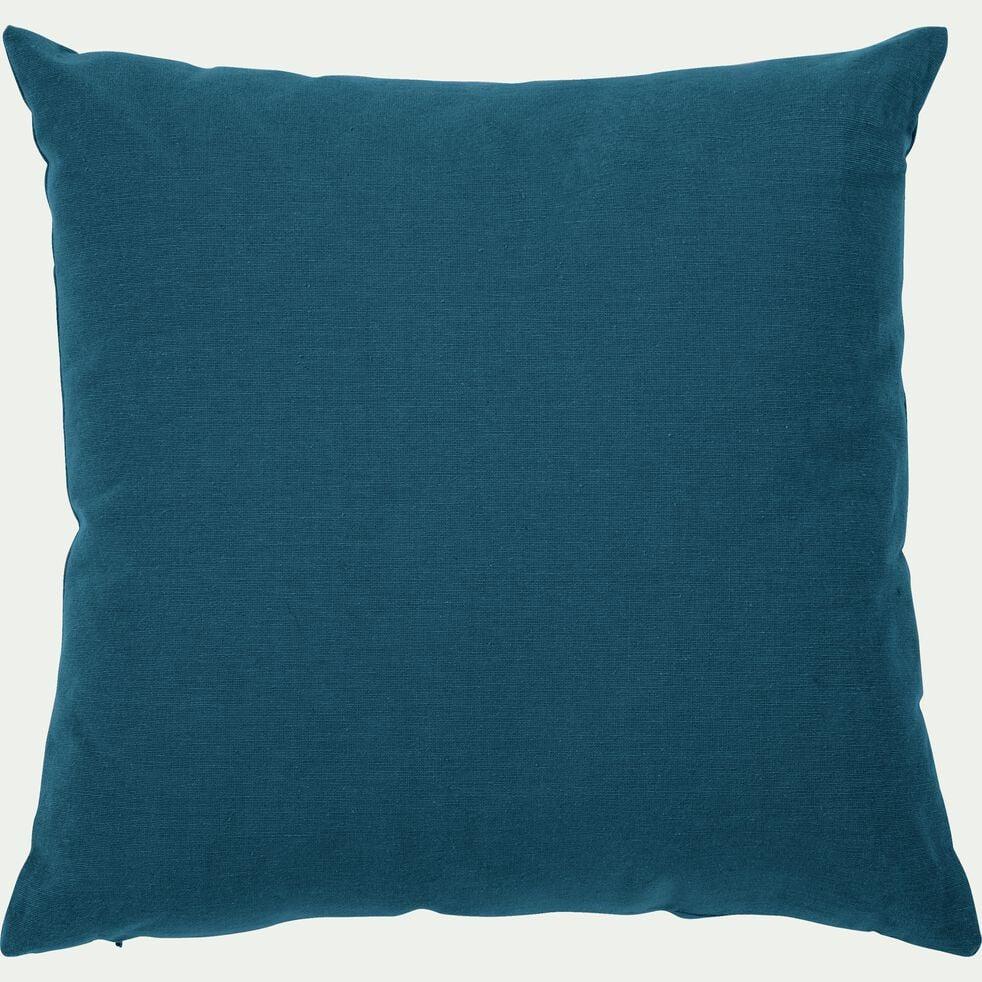 Coussin de sol en coton - bleu figuerolles 70x70cm-CALANQUES