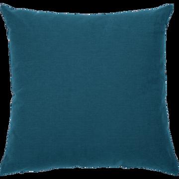 Coussin de sol en coton bleu figuerolles 70x70cm-CALANQUES