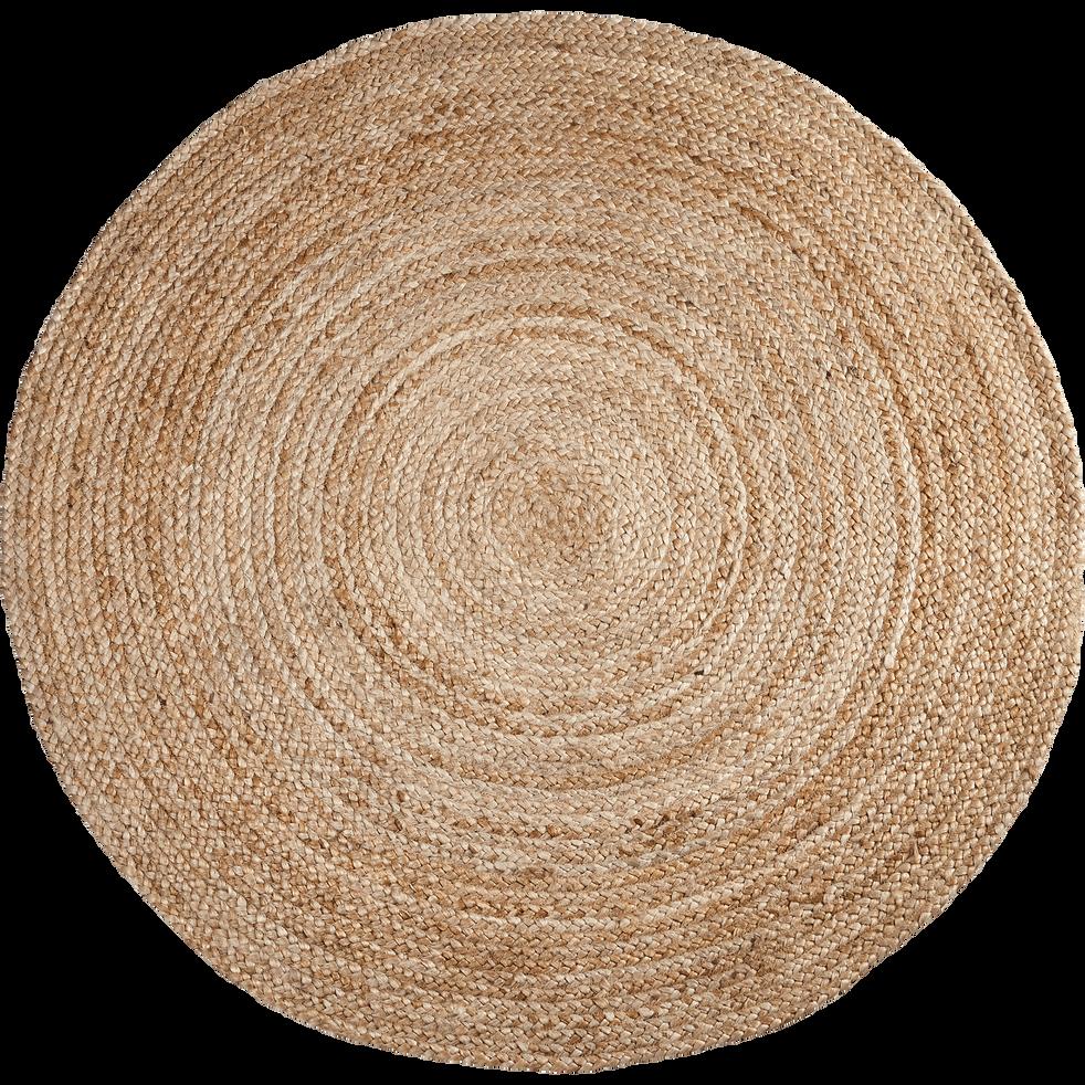 tapis rond en jute d90cm - rush -  u00d890 cm