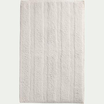 Tapis de bain en coton antidérapant - l50xL80cm blanc ventoux-Gabin