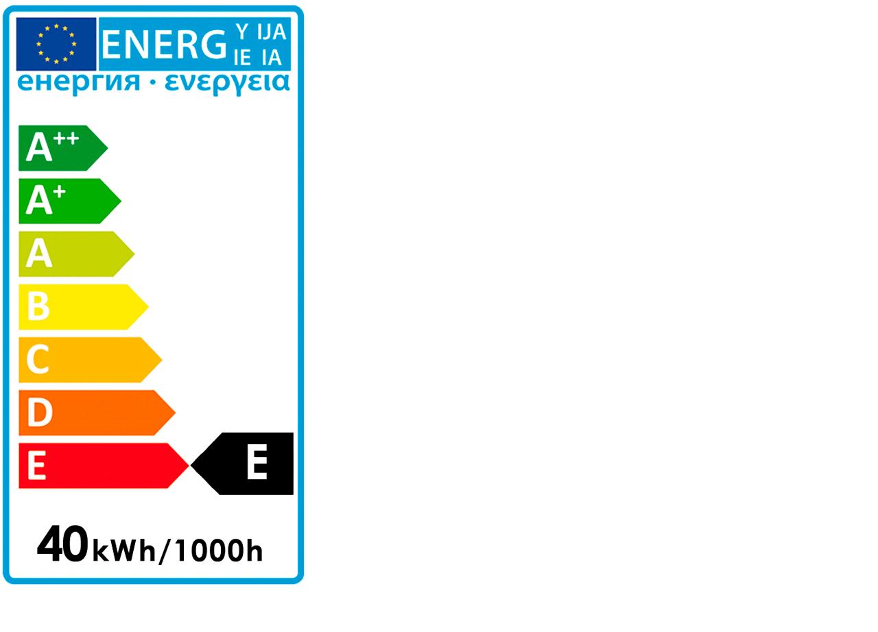 Ampoule décorative incandescente H18,5cm culot E27-TUBE