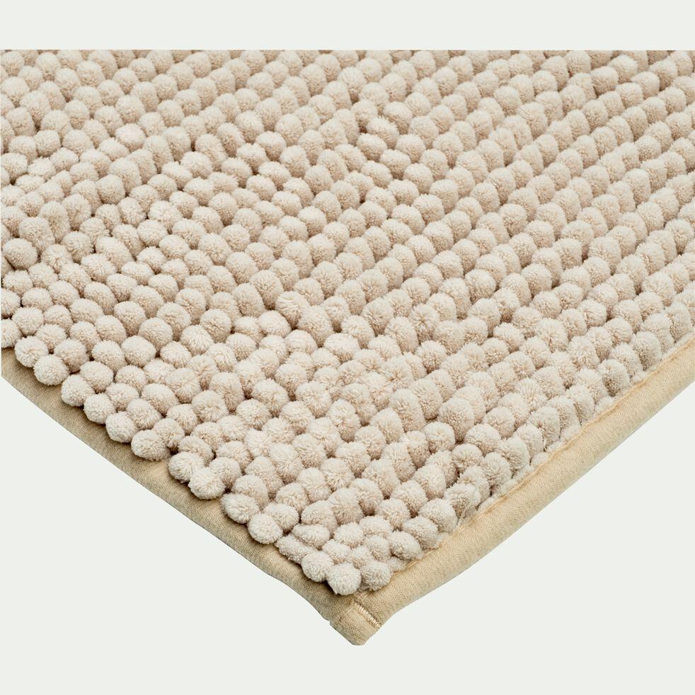 Tapis de bain chenille en polyester - beige roucas 50x80cm-PICUS