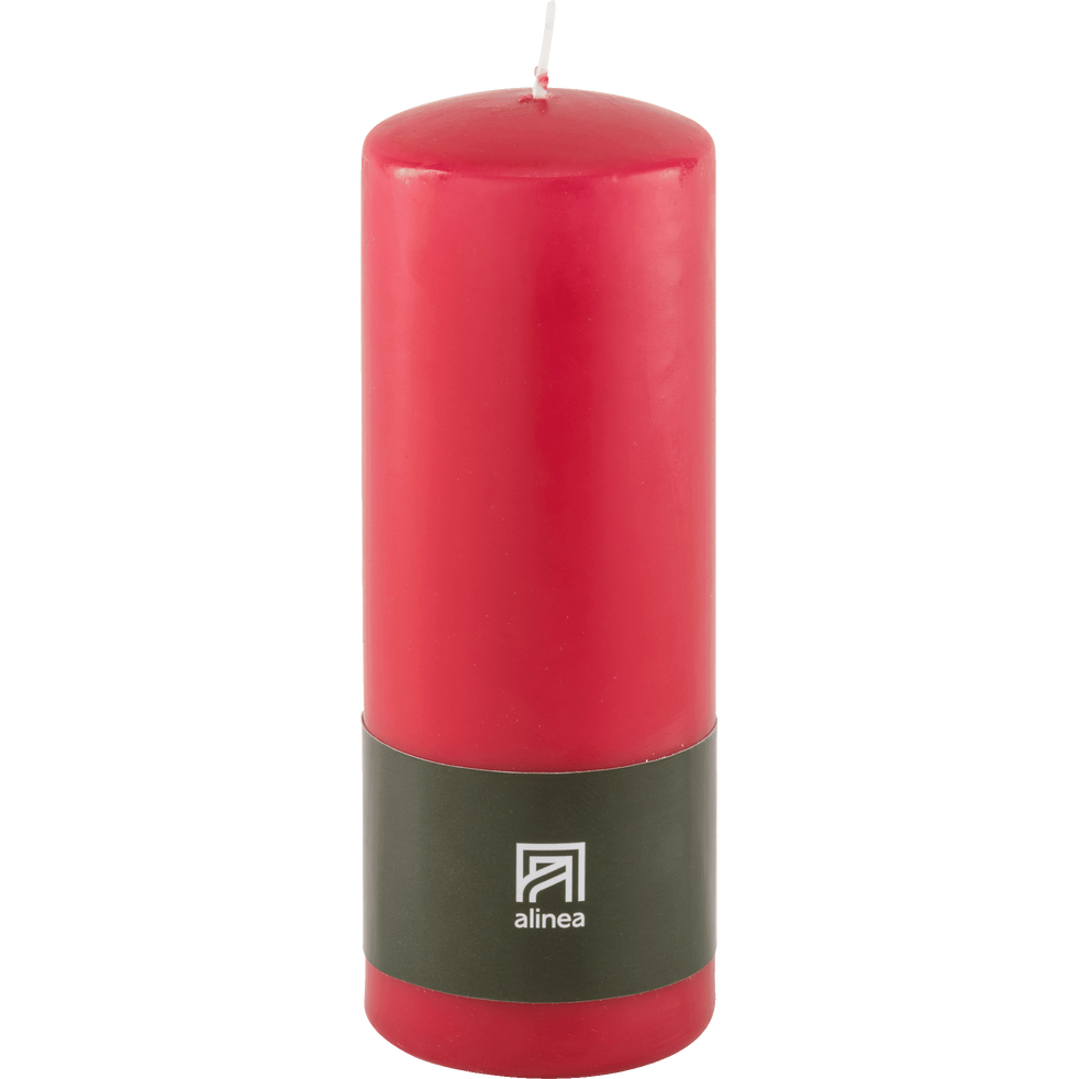 Bougie cylindrique rouge arbouse-HALBA