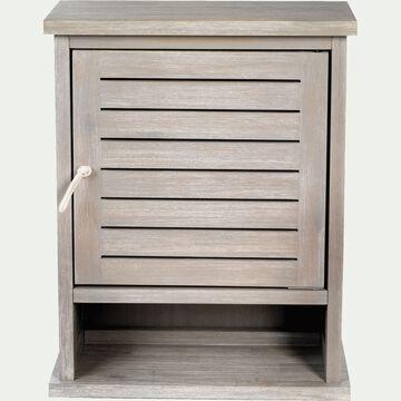 Armoirette de salle de bains en épicéa-Marine