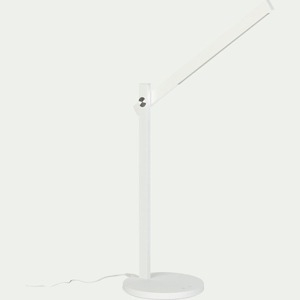 Lampe de bureau avec variateur - blanc H42,50cm-LUCIANA