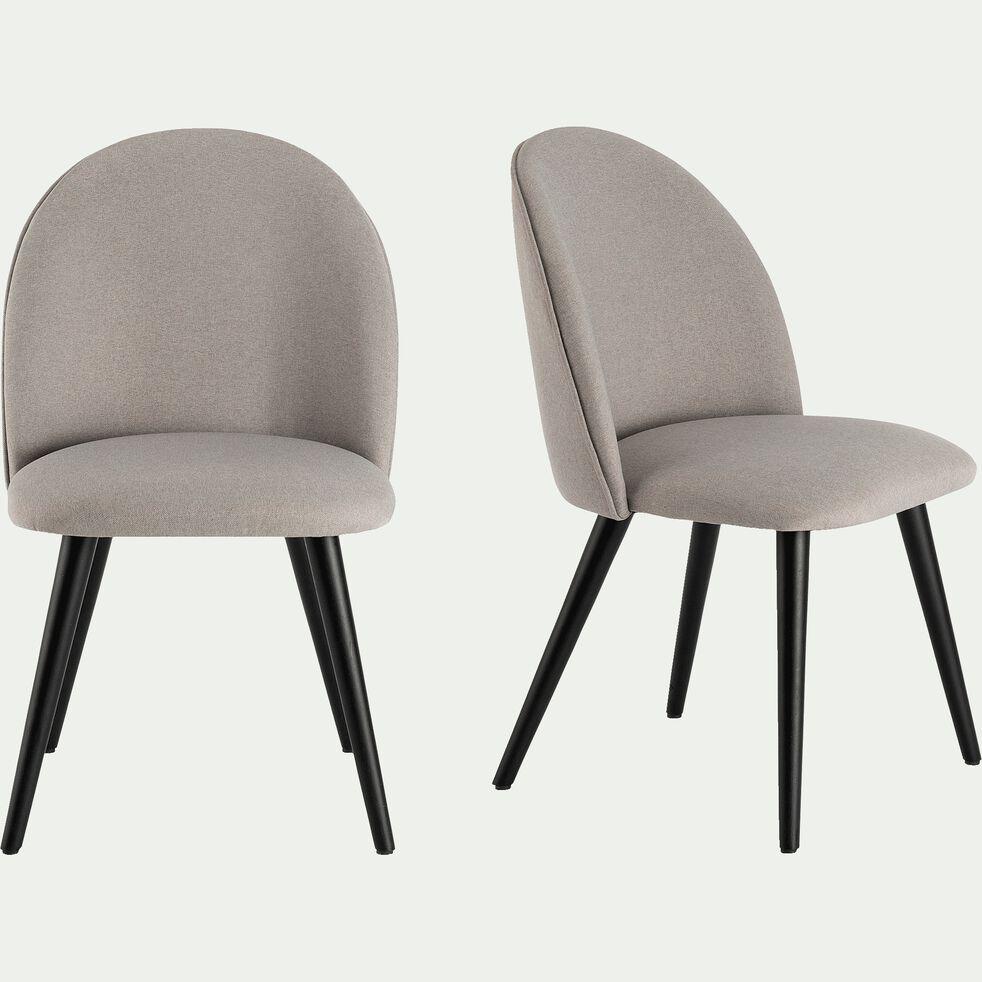Chaise en tissu - gris borie-SERAPHINE