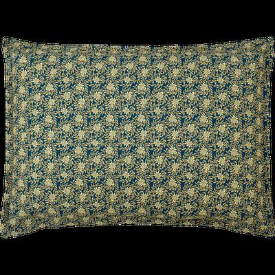 Lot de 2 taies d'oreiller 50x70cm motifs fleurs dorées-LIVIA
