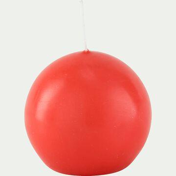 Bougie ronde - rouge azérole D8cm-HALBA