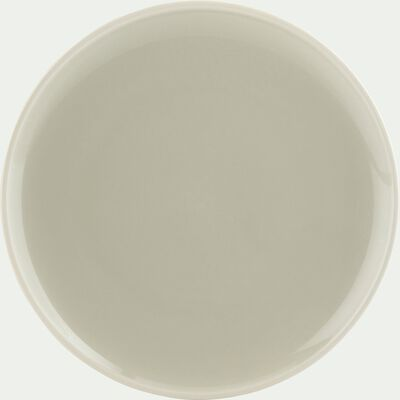 Assiette à dessert en faïence verte D20cm-CAMELIA