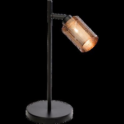 Lampe à poser en métal noir et doré H40cm-MESH